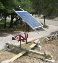 Bicycle Frame Dual-Axis Solar Tracker