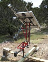 Back side of bike frame solar tracker